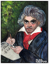 Cartoon: Ludwig van Beethoven (small) by Pascal Kirchmair tagged pascal,kirchmair,ludwig,van,beethoven,cartoon,caricature,karikatur,watercolor,aquarell,vignetta,cuadro,quadro,bild,imagen,image,acquarello,acquerello,aquarela,acuarela