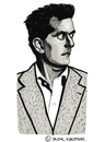 Cartoon: Ludwig Wittgenstein (small) by Pascal Kirchmair tagged ludwig wittgenstein caricature karikatur cartoon philosoph philosopher austria