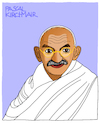 Cartoon: Mahatma Gandhi (small) by Pascal Kirchmair tagged desenho dessin disegno zeichnung porträt mahatma gandhi cartoon caricature karikatur dibujo drawing retrato portrait pascal kirchmair vignetta ritratto india indien asket pazifistischer widerstand nonviolent civil pacifist