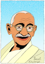 Cartoon: Mahatma Gandhi (small) by Pascal Kirchmair tagged mahatma gandhi cartoon caricature karikatur dibujo drawing retrato portrait pascal kirchmair vignetta ritratto india indien asket pazifistischer widerstand nonviolent civil pacifist disobedience zeichnung disegno dessin desenho