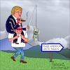 Cartoon: Make America hate again! (small) by Pascal Kirchmair tagged donald,trump,big,money,cartoon,make,america,great,hate,again,karikatur,caricature,pascal,kirchmair,vignetta,dibujo,desenho,dessin,humour,humor,usa,president,united,states