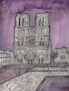 Cartoon: Notre-Dame de Paris (small) by Pascal Kirchmair tagged aquarell,cathedral,cathedrale,kathedrale,cattedrale,gotico,eglise,iglesia,chiesa,burning,in,flammen,igreja,church,catedral,parigi,notre,dame,de,paris,watercolour,watercolor,illustration,ilustracion,ilustracao,pascal,kirchmair,dibuix,drawing,zeichnung,cartoon,caricature,karikatur,dibujo,desenho,ink,disegno,illustrazione,illustratie,dessin,du,jour,art,of,the,day,tekening,teckning,aquarelle,acquarello,acuarela,aguarela,aquarela,gothic,gotik,gothique,pencil,bleistift,bleistiftzeichnung