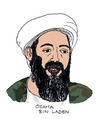 Cartoon: Osama Bin Laden (small) by Pascal Kirchmair tagged osama bin laden al kaida terrorist news us fernsehsender cnn tot
