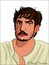 Cartoon: Pedro Pascal (small) by Pascal Kirchmair tagged pedro,pascal,caricature,cartoon,illustration,vignetta,karikatur,drawing,dibujo,portrait,retrato,ritratto,zeichnung,dessin,desenho,disegno,porträt,portret,chile,usa,california,hollywood,kalifornien,santiago