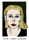 Cartoon: Petra Schmidt-Schaller (small) by Pascal Kirchmair tagged petra,schmidt,schaller,caricature,karikatur,cartoon,portrait