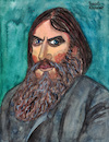 Cartoon: Rasputin (small) by Pascal Kirchmair tagged grigori rasputin portrait retrato catoon caricature karikatur dibujo desenho tekening drawing zeichnung disegno dessin illustration ilustracion ilustracao cartum ritratto