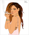 Cartoon: Rihanna (small) by Pascal Kirchmair tagged sex,symbol,rihanna,portrait,retrato,ritratto,drawing,dibujo,desenho,disegno,illustration,ilustracion,ilustracao,illustrazione,illustratie,zeichnung,dessin,du,jour,art,of,the,day,tekening,teckning,cartum,cartoon,vineta,comica,vignetta,caricature,caricatura,karikatur,pascal,kirchmair