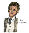 Cartoon: Rod Stewart (small) by Pascal Kirchmair tagged small faces rock and roll hall of fame commander the order british empire rod stewart am sailing rocker great britain celtic glasgow