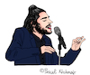 Cartoon: Salvador Sobral (small) by Pascal Kirchmair tagged esc,salvador,sobral,amar,pelos,dois,cartoon,caricature,karikatur,desenho,illustration,eurovision,song,contest,portugal,dibujo,dessin,zeichnung,drawing