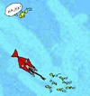 Cartoon: Schadenfreude (small) by Pascal Kirchmair tagged mar,profundo,abisal,abissi,del,mare,profondo,grand,fond,abyssal,abyssale,meer,deep,blue,sea,tiefsee,fish,fische,poissons,schadenfreude,plaisir,sadique,joie,maligne,malicious,joy