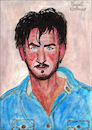 Cartoon: Sean Penn (small) by Pascal Kirchmair tagged sean,penn,caricature,karikatur,tekening,pascal,kirchmair,portrait,retrato,drawing,dibujo,cartoon,desenho,dessin,ilustracion,ilustracao,illustrazione,portret,cartum,actor,hollywood,usa,disegno