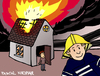 Cartoon: Selfie (small) by Pascal Kirchmair tagged feu incendie pompier firefighter brand feuer fire unnötiger dispensable selfie inutile feuerwehrmann cartoon karikatur caricature