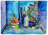 Cartoon: Still life with citrus fruits (small) by Pascal Kirchmair tagged stilleben,nature,morte,aquarell,still,life,watercolour,natura,morta,bodegon,pascal,kirchmair,naturaleza,muerta,natureza