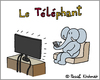 Cartoon: Telephant (small) by Pascal Kirchmair tagged telefant,telephant,telefante,cartoon,vignetta,karikatur,caricature,dessin,humour,humor,dibujo,desenho,disegno,zeichnung