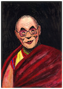 Cartoon: Tenzin Gyatso - 14th Dalai Lama (small) by Pascal Kirchmair tagged 14,dalai,lama,tenzin,gyatso,prix,premio,nobel,peace,prize,preis,1989,caricature,karikatur,karikatür,drawing,illustration,portrait,retrato,pascal,kirchmair,dibujo,zeichnung,disegno,dessin,desenho,illustrazione,ilustracao,ilustracion,ritratto,tibet,china,religion