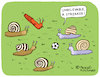 Cartoon: The Streaker (small) by Pascal Kirchmair tagged flitzer,nackt,schnecken,escargots,snails,streaker,slug,babosa,limace,limaccia,chiocciola,caracol,cartoon,caricature,karikatur,drawing,dibujo,vineta,comica,cartum,desenho,dessin,zeichnung,humour,humor