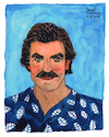 Cartoon: Thomas Magnum (small) by Pascal Kirchmair tagged thomas sullivan magnum tom selleck hawaii private investigator tv television series illustration drawing zeichnung pascal kirchmair irische impressionen cartoon caricature karikatur ilustracion dibujo desenho ink disegno ilustracao illustrazione illustratie dessin de presse du jour art of the day tekening teckning cartum vineta comica vignetta caricatura portrait retrato ritratto portret aquarelle watercolor watercolour acquarello acuarela aguarela aquarela