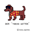 Cartoon: Trend-Setter (small) by Pascal Kirchmair tagged trendsetter,trend,mode,irish,red,setter,cartoon,caricature,karikatur,dessin,humoristique,humour,humor,wortspiel,wordplay,calembour,pun,play,on,words,jeu,de,mots