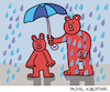 Cartoon: Under my umbrella (small) by Pascal Kirchmair tagged under,my,umbrella,regen,schirm,teddy,bären,bears,teddies,caricature,cartoon,karikatur,vignetta,vineta,comica,ours,brun,bruno,braunbär,brown,bear,jj1,humor,humour,dessin,drawing,zeichnung,dibujo,desenho,disegno