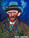 Cartoon: Vincent van Gogh (small) by Pascal Kirchmair tagged vincent,van,gogh,portrait,retrato,ritratto,porträt,pascal,kirchmair,cartoon,illustration,karikatur,caricature,vignetta,aquarell,watercolour,watercolor,painting,peinture,malerei,cuadro,quadro,dipinto,pintura