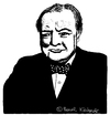 Cartoon: Winston Churchill (small) by Pascal Kirchmair tagged winston churchill karikatur portrait caricature illustration drawing cartoon dibujo zeichnung desenho disegno prime minister united kingdom great britain großbritannien england woodstock dessin