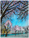 Cartoon: Winterlandschaft (small) by Pascal Kirchmair tagged winterlandschaft,winter,landscape,paysage,hiver,watercolour,aquarell,paesaggio,inverno,paisaje,invierno,paisagem,cuadro,quadro
