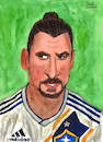 Cartoon: Zlatan Ibrahimovic (small) by Pascal Kirchmair tagged zlatan ibrahimovic caricature illustration ilustracion pascal kirchmair portrait retrato ritratto drawing dibujo desenho disegno ilustracao illustrazione illustratie zeichnung dessin du jour art of the day tekening teckning cartum cartoon vineta comica vignetta caricatura karikatur aquarell watercolour watercolor la galaxy los angeles trikot football foot futbol futebol fußball shirt jersey footie footy calcio zlatanera zlataner zlatanieren zlatanize