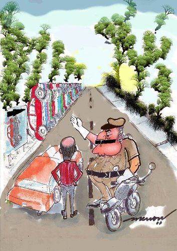 Cartoon: Parking solution (medium) by kar2nist tagged level,multi,police,traffic,parking,car