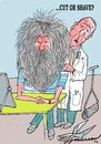 Cartoon: cut or shave (small) by kar2nist tagged hair,cut,shave,barber