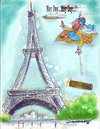 Cartoon: May Day...May Day...! (small) by kar2nist tagged eiffel tower flying 911 disaster carpet