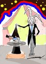 Cartoon: Roles Reversed (small) by kar2nist tagged magician rabbit hat tricks magic show