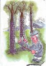 Cartoon: self defence (small) by kar2nist tagged trees,felling,nature,protection