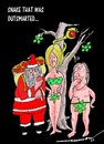 Cartoon: snake outsmarted (small) by kar2nist tagged xmas,snake,santa,apple