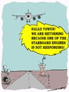 Cartoon: truant engine (small) by kar2nist tagged aircraft,pilot,engine,control,tower