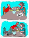 Cartoon: War and Peace (small) by kar2nist tagged war,peace,tolstoy,dining,table,breakfast