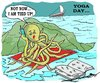 Cartoon: yoga day 2 (small) by kar2nist tagged yoga,world,octopus