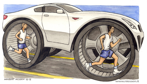 Cartoon: X-human (medium) by Niessen tagged cars,ecology