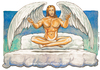 Cartoon: Angels (small) by Niessen tagged jesus,christus,engel,wolke,himmel,bett