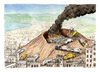 Cartoon: Bella Napoli (small) by Niessen tagged vesuvius,vulcan,garbage,neaples,trash,fire,burning,recycling,city