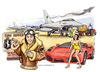 Cartoon: Euro burner (small) by Niessen tagged eurofighter,euro,money,pilot