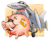 Cartoon: Eurofickther (small) by Niessen tagged euro,eurofighter,fuck,sparschwein,schwein