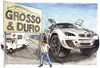 Cartoon: Grosso e duro (small) by Niessen tagged penis,cult,bmw,man,car,suv,prostitute