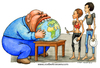 Cartoon: The good family father (small) by Niessen tagged eat,world,globe,rich,poor,fat,thin,hunger