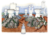 Cartoon: The seven hills (small) by Niessen tagged rom,rome,italy,italia,italien,palast,palace,power,macht