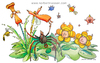 Cartoon: Winter flowers (small) by Niessen tagged blumen,spinne,insekten,landschaft,natur