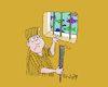 Cartoon: the escape (small) by mitya_kononov tagged mityacartoon