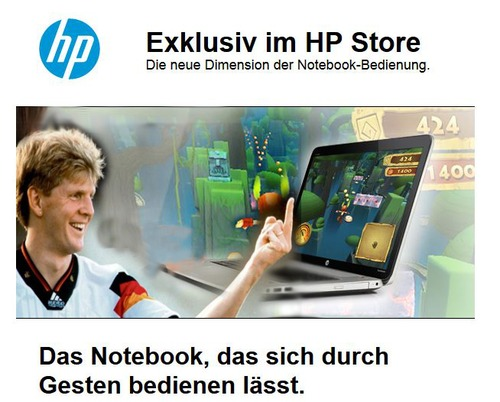 Cartoon: Die neue Technik (medium) by berti tagged control,gesture,steuerung,geste,notebook,hp