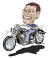 Cartoon: Kev and his Honda (small) by kullatoons tagged honda,motorbike,caricature
