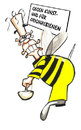 Cartoon: Bienensterben (small) by Strassengalerie tagged bienensterben