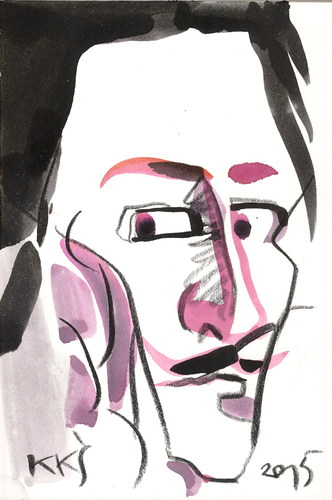 Cartoon: Salvador Dali (medium) by Kestutis tagged liner,postcard,art,kunst,kestutis,lithuania